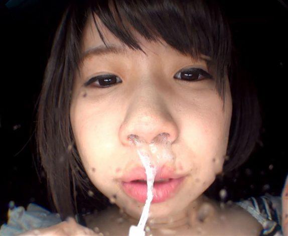 松浦ゆきながくしゃみで鼻水ぶっかけ